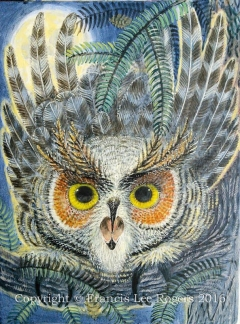 Great Horn Owl  By Francis Lee Rogers-