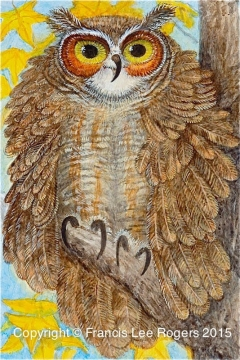 Great Horn Owl By Francis Lee Rogers 1 112013