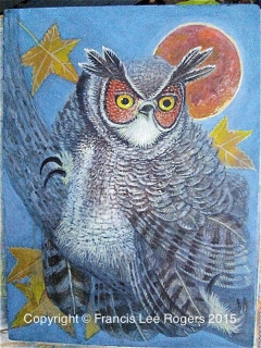 Great Horned Owl awaken