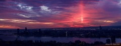 Light Pillar NYC