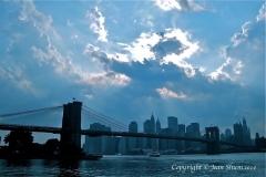 Angel cloud by the Brooklyn bridge