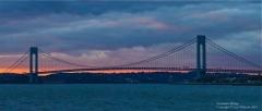 Sunset by the Verrazano Bridge