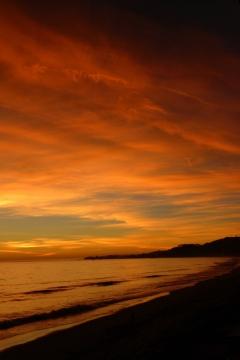 Sunrise at Carbon Beach, Ca