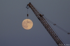 Buck moon over the East river
